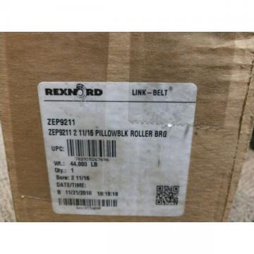 """Rexnord ZEP9211 2-11/16"""" Pillow Block Roller Bearing Linkbelt"""